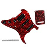 Buty 3 Capas de Doble Carril Pastilla de Guitarra eléctrica Pickguard prealambrado Cargado Set Red