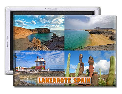 GoPukka Lanzarote Spanien – Souvenir Kühlschrankmagnet (Standard: 70 x 45 mm)