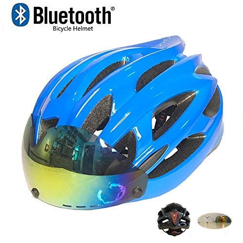 Bike Bicycle | TKTTBD Bluetooth Bike Helmet,Adjustable Cycling Helmet Specialized Bicycle Helmets for Men Women,Adult Cycling Helmets with Detachable Magnetic Goggles and Safety Taillight, Gym exercise ab workouts - shap2.com