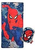 Jay Franco Marvel Spiderman Sac de couchage léger et chaud pour enfant Motif Spiderman