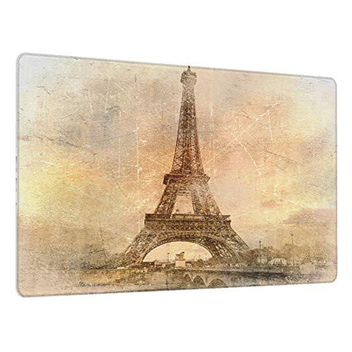 Alfombrilla de ratón Grande para Juegos,Torre Eiffel,Base de Goma Antideslizante,Adecuada para Jugadores,PC y portátil(80 x 30cm)