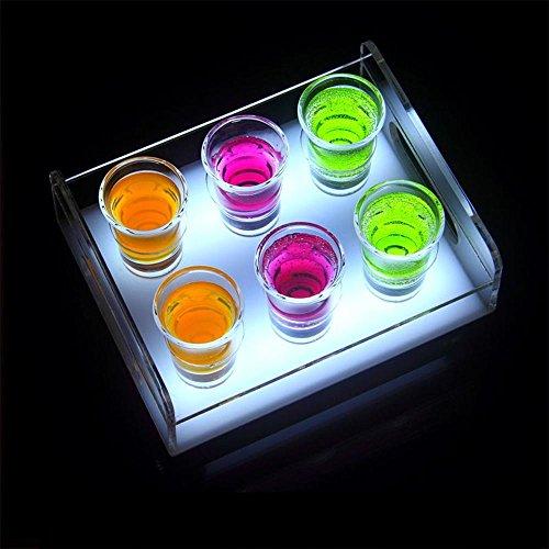 MEI XU-Weinregal Acryl weiß/Bunte Desktop Bunte Beleuchtung langlebige LED-Lampe Perlen schnelle Aufladung langlebig robust zuverlässig für mehrere Gelegenheiten 6 (klein), 12 (groß)