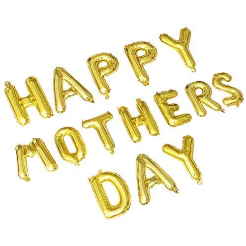 ABOOFAN Glücklich Mütter Ballons Tag Banner Hänge Garland Folie Rose Gold Ballons Mama Mütter Tag Party Dekorationen Lieferungen