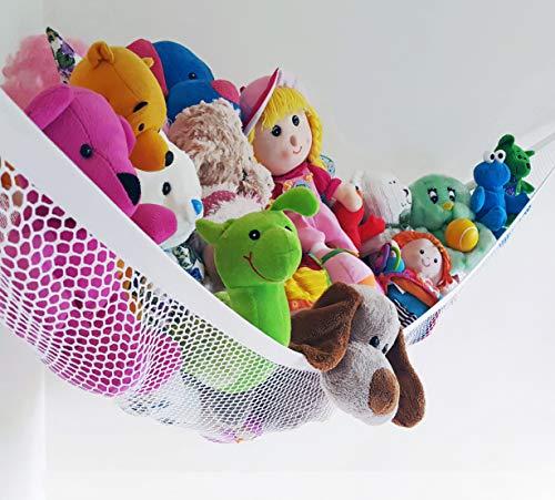 Viva Toy Hammock Deluxe, Kinder-Spielzeug-Hängemattennetz, Hängemattennetz zum Aufhängen von Spielzeug und Schlafzimmereinrichtung.