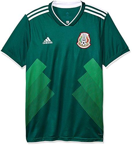 adidas México Camiseta de Equipación, Hombre, Verde (veruni/Blanco), 2XL