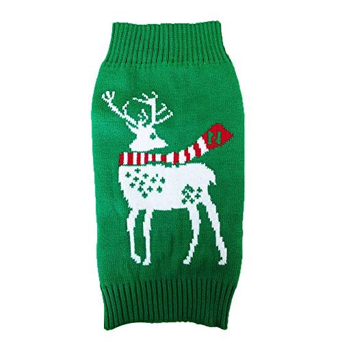 NACOCO Dog Reindeer Sweaters Dog Sweaters New Year Christmas Pet Clothes for Small Dog and Cat