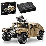 Xshion 1/8 C61036W control remoto Humvee Off-Road Truck Building Blocks Model, 3935 Military Offroader Car Building Blocks Kit de construcción para adultos, compatible con Lego