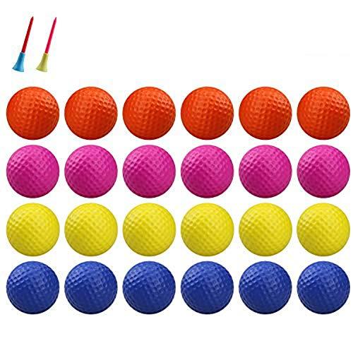 Kofull Golfbälle aus PU-Schaumstoff für drinnen und draußen, Übungsball, weich, für Kinder, Haustiere, Bälle für Spaß (24 Stück) (Multicolor)