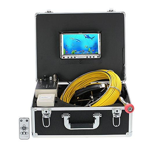Lixada 110-7D1 con Detector de Tubería DVR, Drenaje Tubo Inspección Cámara de Video, Impermeable, 20M+7' Pantalla LCD+HD 1000 cámara+960TVL CCD+12 LEDs Night Vision
