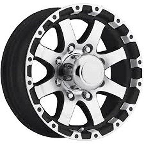 New 16 Inch 8 on 6.5 Black and Machined 8 covid 19 (Spoke Aluminum Trailer Tire coronavirus)