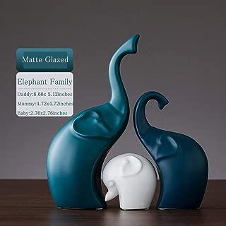 zPour Elephant Figurines Animal Decoration Décor Ceramics Ornament