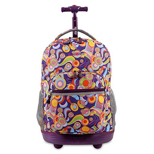 J World New York Sunrise Rolling Backpack, FUNKY, One Size