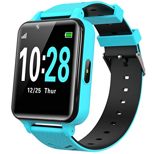 WILLOWWIND Kids Smart Watch for Boys Girls - Children's Smartwatch with 14 Games Music Mp3 Player 2 Way Phone Calls Alarms Calculator for Students 4-12 Years Old Birthday Gift (Blue)