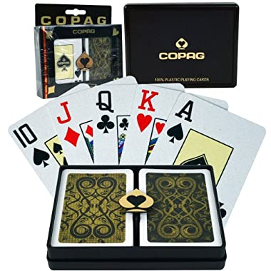 Copag Bridge Size Jumbo Index - Iluminura Setup Playing Cards (Black/Gold)