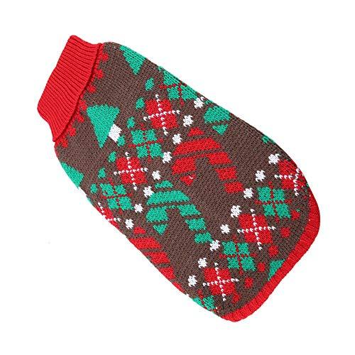 Cálido suéter para mascotas para perro, gato, invierno, suéter de Navidad transpirable...