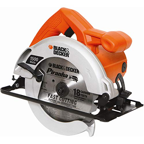 BLACK+DECKER Serra Circular de 7.1/4 Pol. (184,15mm) 5.500 RPM e 1500W 110V CS1024
