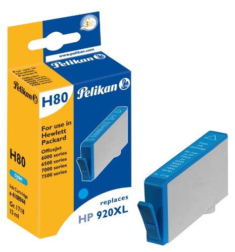 Pelikan 4108944 - Cartucho de Tinta HP OfficeJet 6500 - 920 - XL - Cyan ✅