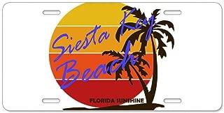 CafePress Florida Siesta Key Beach Aluminum License Plate, Front License Plate, Vanity Tag