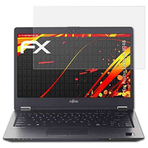 atFolix Schutzfolie kompatibel mit Fujitsu Lifebook U748 Bildschirmschutzfolie, HD-Entspiegelung FX Folie (2X)