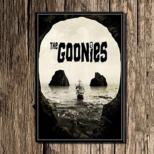 MXIBUN Cartel e Impresiones en HD The Goonies Classic Movie Cuadros de Arte de Pared Lienzo Pintura Regalo Decoración para el hogar sin Marco 50 * 70cm