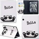 Ooboom Kindle Voyage Hülle Flip PU Leder Schutzhülle Tasche Hülle Cover Wallet Brieftasche Standfunktion mit Kartenfächer Kartenfach für Kindle Voyage - Hello Panda