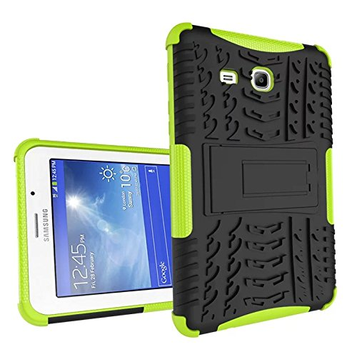 XITODA Compatible with Hülle Samsung Galaxy Tab 3 Lite 7.0, Hybrid PC + TPU Silikon Hülle Mit Stand Schutzhülle für Galaxy Tab 3 Lite 7.0 SM-T110/T111/T113/T116 Case Cover - Grün