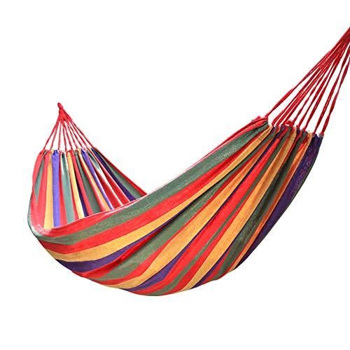 Rollover anti-rolling hangmat vrijetijdsbesteding buitenshuis canvas enkele hangmat met een houten stok enkele dubbele schommel voor backpacken Travel