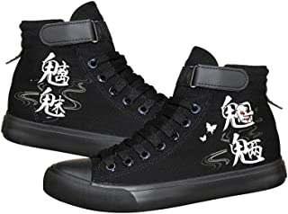 Unisexe Anime Onmyoji,Black Chaussures en Toile À Lacets Baskets De Mode Sneakers Velcro Printemps Et Automne