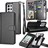 Tekcoo Wallet Case for Galaxy S21, Luxury PU Leather ID Cash Credit Card Slots Holder Carrying Folio Flip Cover [Detachable Magnetic Hard Case] Kickstand for Samsung Galaxy S21 [Black]