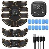 Dispositivo di allenamento in ABS EMS stimolazione muscolare, elettrostimolazione, stimolatore muscolare professionale USB per addominali, massaggiatore per uomini e donne