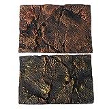 Toyvian Fondo de Terrario de Habitat de Reptil Fondo de Vivario 3D Fondo de Decoración para Tanque de Tortuga Y Fondo de Vivario