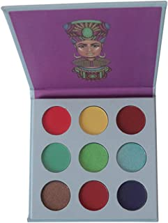 9 Colors Makeup Nubian Eyeshadow Pallete Injections Pressed Eye Shadow Shimmer Eyeshadow Palette 9 Colors White