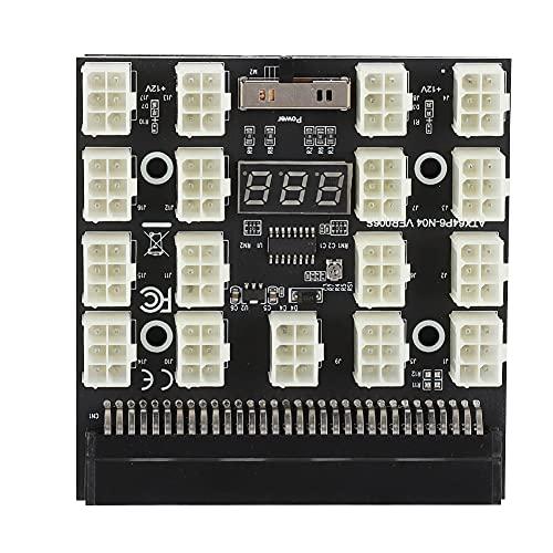 Adaptador de placa de conexión para fuente de alimentación, PCI-E 17 x 6 pines, placa de conexión de 12 V para minería con pantalla LED, proceso de PCB, adaptador de servidor, placa convertidora