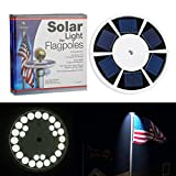 Pinty 26 LED Solar Powered Flag Pole Top Light Waterproof for Outdoor Camping & Garden Decor