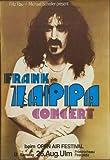 Frank Zappa Deutsch 1978 Foto-Nachdruck eines Tourposters