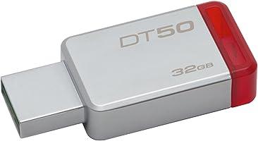 Kingston Dt50/32Gb, Usb 3 Datatraveler 50, 32 Gb, Metalik / Kırmızı
