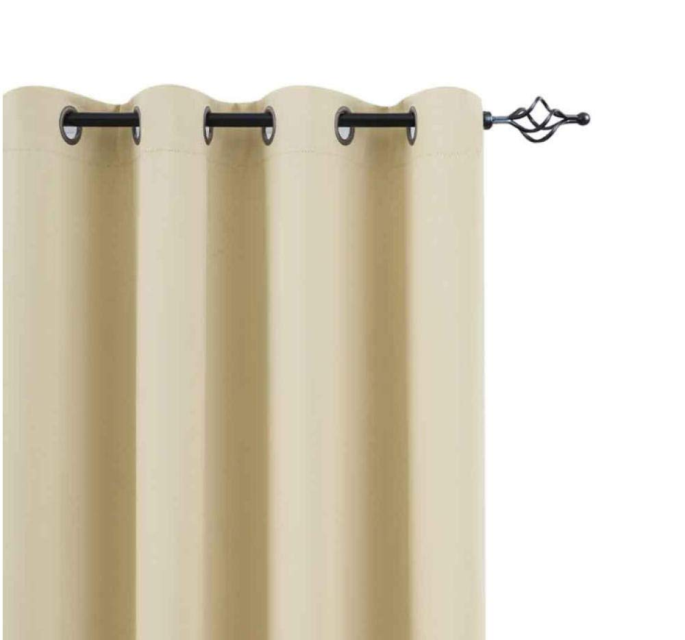Cysincos 1 PC Rideau Lourd Occultant /à Oeillets /Étoile Panneaux Isolant Thermique Draperie de Fen/être Solid Souple D/écoration pour Chambre Fille