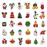 30pcs Christmas Mini Ornaments Small Resin Christmas Ornaments for Mini Christmas Tree Decorations