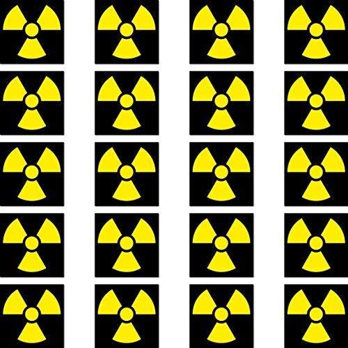 20 Stück 2cm Radioaktiv Strahlung Symbol Zeichen RC Modellbau Mini Aufkleber Sticker Modellbauaufkleber