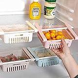Organizer a cassetto retrattile 4 pezzi ideale Organizer per cassetto scorrevole multicolore per frigorifero cucina dispensa frigorifero