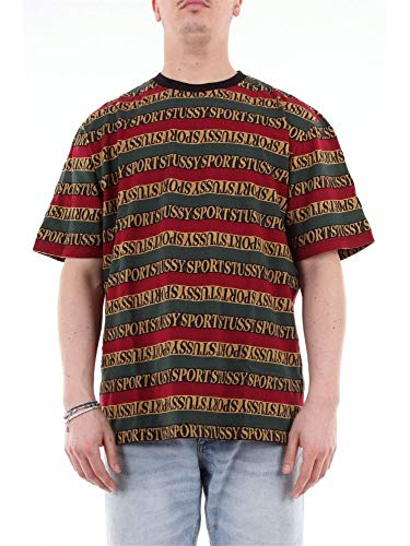 Stussy Luxury Fashion Herren 1140162MULTICOLOR Multicolour Baumwolle T-Shirt | Jahreszeit Outlet