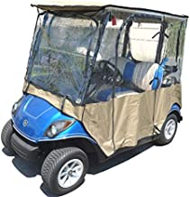 Formosa Covers Premium Tight Weave Golf Cart Driving Enclosure for Yamaha Drive, The Drive, YDR 2 Seater Exclusively - All Weather