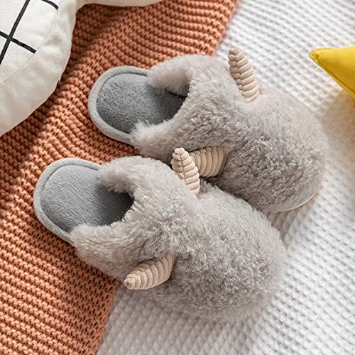 YTO Zapatillas de Felpa de otoño e Invierno, Lindo hogar cálido en Invierno, Zapatillas de algodón, Zapatillas de algodón para Parejas de Interior