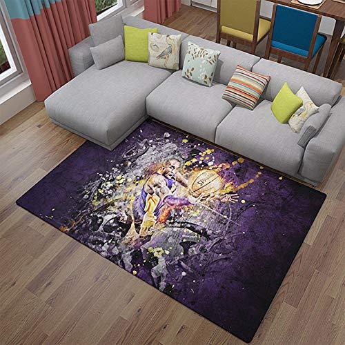 Kobe and Lakers - Alfombra de yoga para decoración del hogar, poliéster, antideslizante para el hogar, alfombrilla moderna para dormitorio, sala de estar, 120 x 180