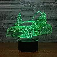 Boutiquespace3DイリュージョンランプLEDナイトライトマルチチョイスクールスポーツカーオートノベルティ7色変更電気スタンド子供のための最高の誕生日ホリデーギフト