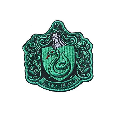 Nueva Harry Potter Slytherin parche de velcro, Planchable, 10*8.6CM(3.9