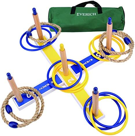 EVERICH TOY Yard Games for Kids and Adults Ring Toss Game for Kids Lawn Outdoor Games for Family product image