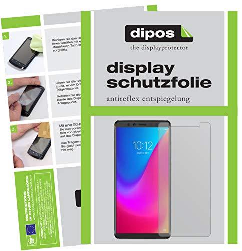 dipos I 2X Schutzfolie matt kompatibel mit Lenovo K5 Pro Folie Bildschirmschutzfolie
