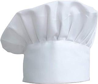 Chef Hat, 1 Pcs White Adjustable Elastic Kitchen Cooking Headgear