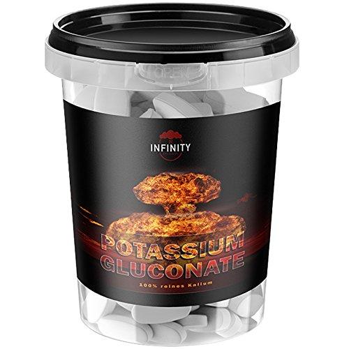 Kalium - Potassium Gluconate, 280 Tabletten - Hochdosiert, Für Veganer und Vegetarier geeignet - beste Qualität für Blutdruck, Nerven & Muskelfunktion - hoch Bioverfügbar
